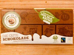 Die gute Schokolade mit Go'n joy Logo