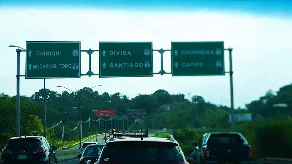Schilder Panamericana_Mietwagenreise_Panama
