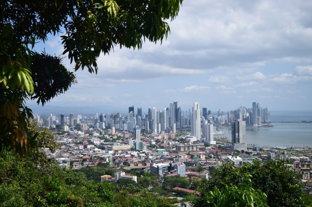 Blick vom Urlaub auf Panama City