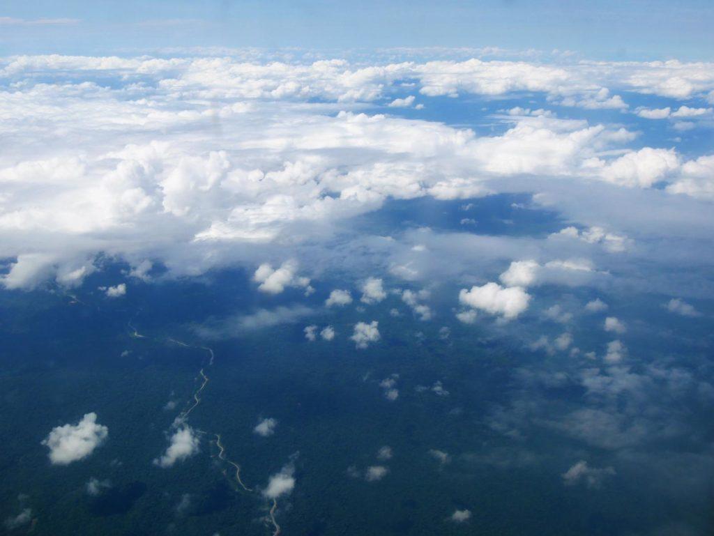 Panama Reise_Flug über Panama