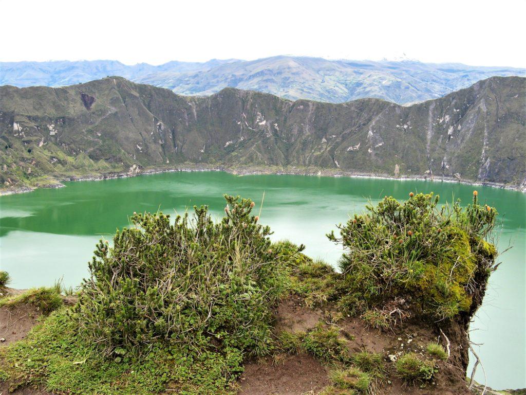 Quilotoa Lagune grün Ecuador