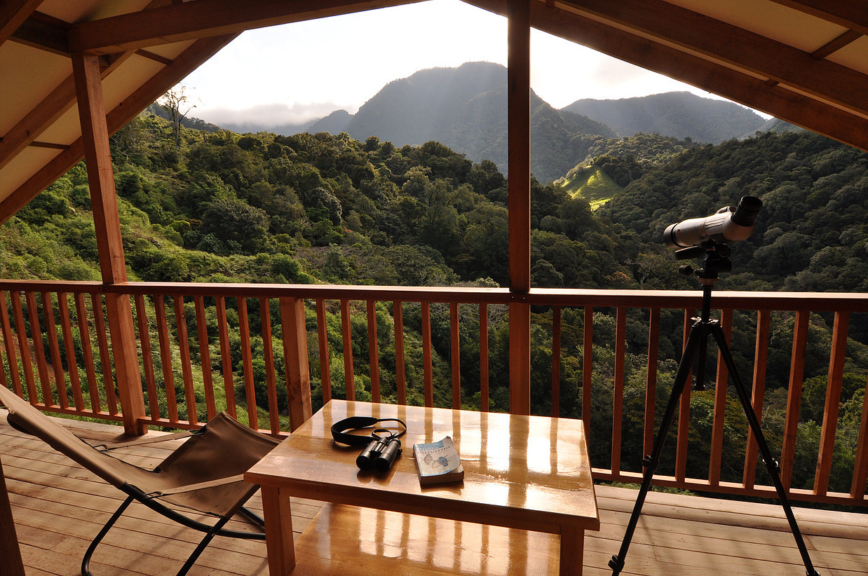 Blick von Mount Totumas Cloud Forest Lodge