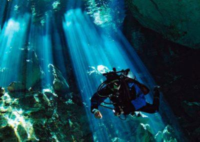 Unterwasserhöhle Cenote Mexiko Reise