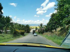 Weg nach Sixaola Straße in Panama