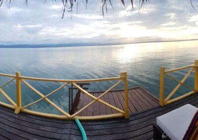 Aussicht Wasserhütte Familienreise Panama