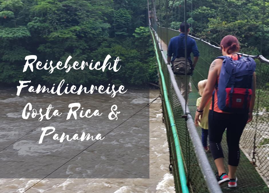 Hängebrücke Familienreise Costa Rica