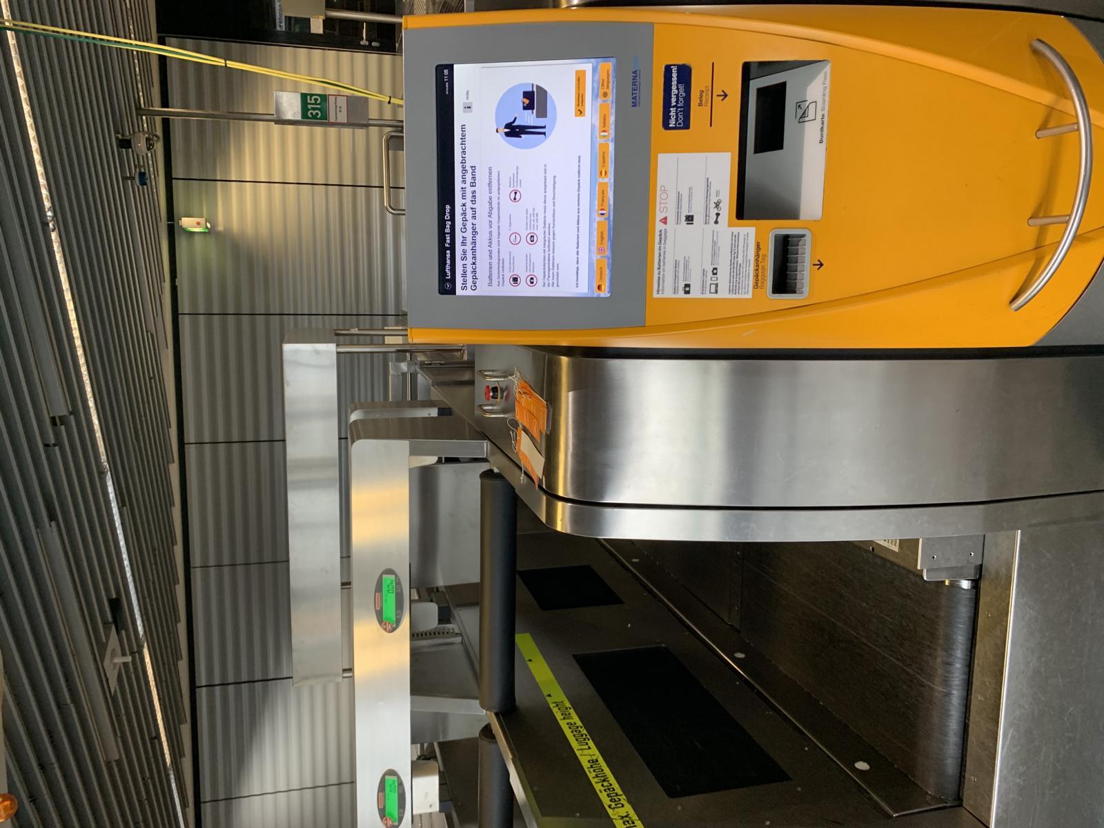 Koffercheckin Flughafen Frankfurt