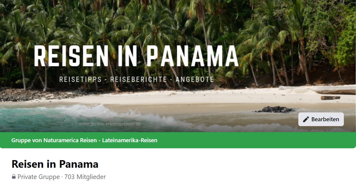 Reisen in Panama Facebookgruppe